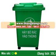 Thùng rác nhựa HDPE 30 lít bánh xe