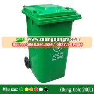 Thùng rác nhựa HDPE 240 lít bánh xe