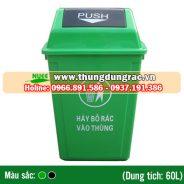 Thùng rác nhựa HDPE 60 lít cố định