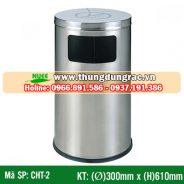 Thùng rác inox cấm hút thuốc CHT-2