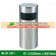 Thùng rác inox cấm hút thuốc CHT-1