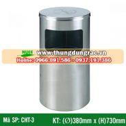 Thùng rác inox cấm hút thuốc CHT-3