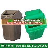 Thùng rác nhựa nắp lật 10L, 15L, 25L, 45L, 60L